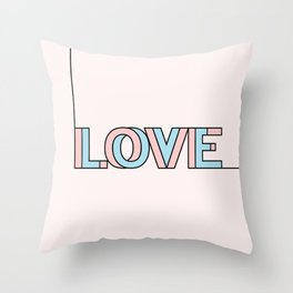 .LOVE II. Throw Pillow