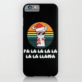 Lllama Christmas Fa La La Llama Retro Vintage iPhone Case