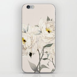 White Peonies iPhone Skin