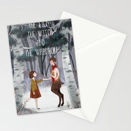Lucy and Tumnus Stationery Cards