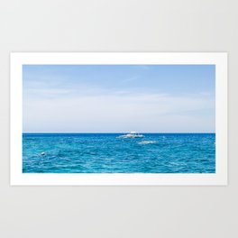 Dive Boat in the Bohol Sea Art Print
