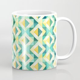 Quilted Diamond // Geometric Watercolor Pattern Coffee Mug
