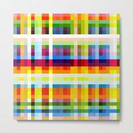 colorful geometric retro design Muscaliet Metal Print