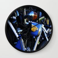 bicycles Wall Clocks featuring Bicycles by Alex Holden