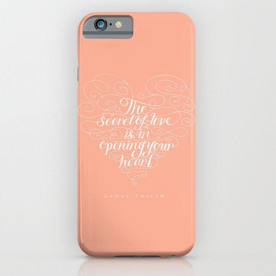 Secret Of Love iPhone & iPod Case