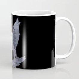 Wolf Silhouette Modern Country Art Modern Farmhouse Art Matted Picture USA A066b Coffee Mug