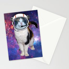Space cat Stationery Cards