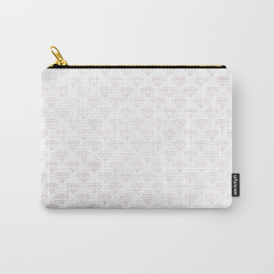 Simply Diamonds in Rose Gold Sunset Carry-All Pouch