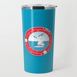Window View Series (Boat) Travel Mug