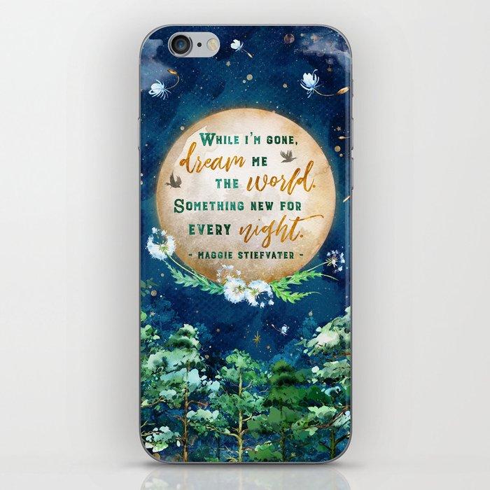 Dream me the world iPhone Skin