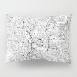 Vintage Map of San Antonio Texas (1953) BW Pillow Sham