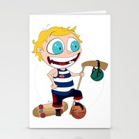 sport Stationery Cards featuring Sport star by JoshEssel
