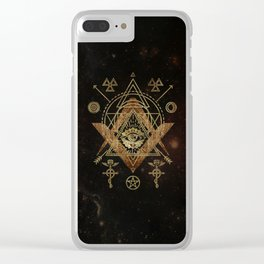 Mystical Sacred Geometry Ornament Clear iPhone Case