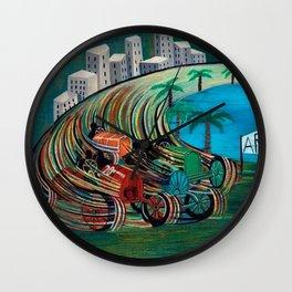 Grand Prix Racing, Monaco by Pippo Rizzo Wall Clock