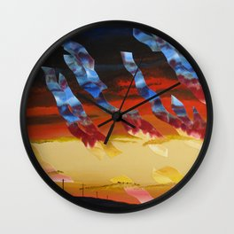 Sea Crest Sunset 7 Wall Clock
