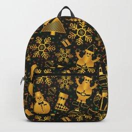 Golden Xmas Backpack