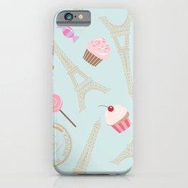 Paris Pattern iPhone Case