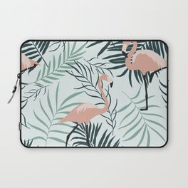 Flamingo Tropical Leaves Laptop Sleeve