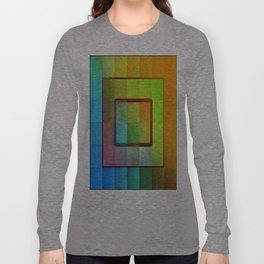 Aperture #3 Vibrant Fractal Pleat Texture Design Long Sleeve T-shirt