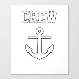 Crew Anchor Nautical Gift Sailing Ship Yacht Design Canvas Print