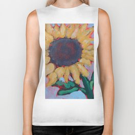 Blue Sunflower Biker Tank