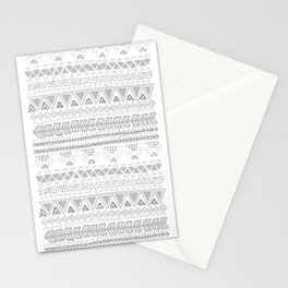 Grey aztec pattern Stationery Cards
