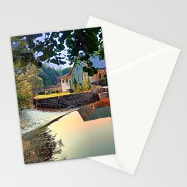 Nature, a river and colorful reflections | waterscape photography Stationery Cards