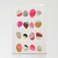 jazzberry Stationery Cards featuring painted pebbles 1 by Garima Dhawan