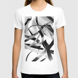 Black paper stripes T-shirt