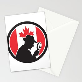 Canadian Private Investigator Canada Flag Icon Stationery Cards