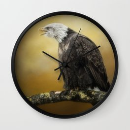 Eagle's Scorn Wall Clock