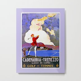 Cadenabbia Lake Como Golf And Tennis Metal Print