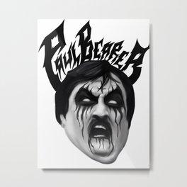 Black Metal Paul Bearer Metal Print