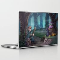 adventure is out there Laptop & iPad Skins featuring Adventure by aokstudios