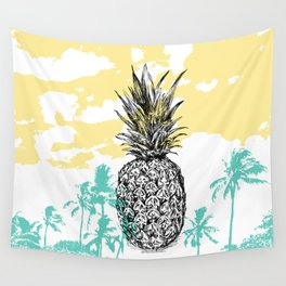 Pineapple print Wall Tapestry
