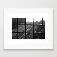 oakland Framed Art Prints featuring Dirty Oakland by falsegus7