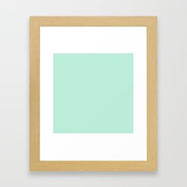 Mint Green Framed Art Print