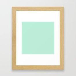 Mint Green Pastel Solid Color Block Framed Art Print