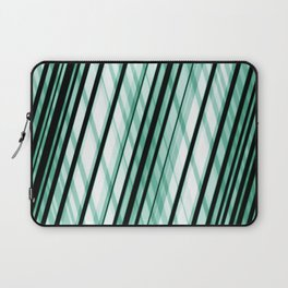 Slanted / Angled Green Lines Laptop Sleeve