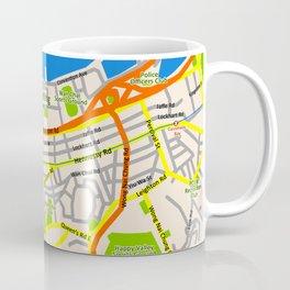 Hong Kong Map design Coffee Mug