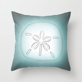 Sand Dollar Blessings - Pointilist Art Throw Pillow