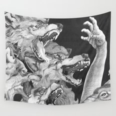 The Wolves are Coming Wall Tapestry