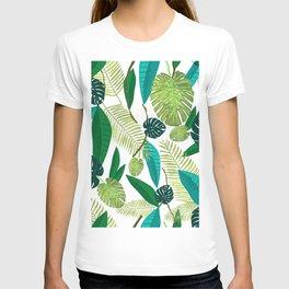 Tropical Green Leaves T-shirt