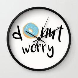 Donut Worry Blue Wall Clock