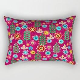 Waltz of the flowers . Retro 4 Rectangular Pillow