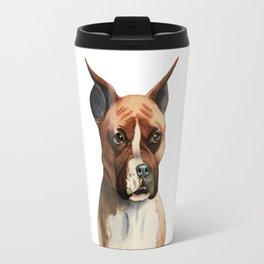 Boxer Dog Watercolor Painting Travel Mug
