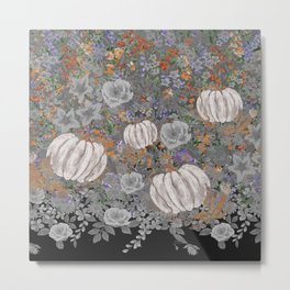 fall pumpkin Metal Print