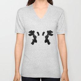 Rorschach Inkblot 02 Unisex V-Neck
