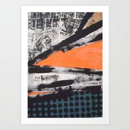 CUT  UP Art Print