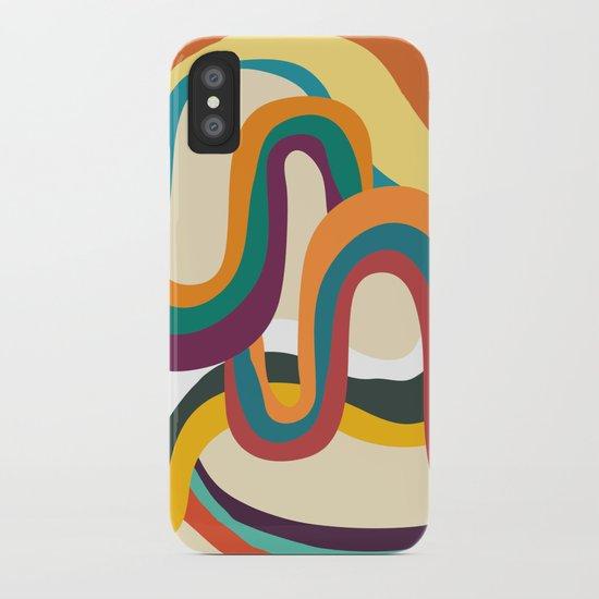 Groovy rainbow of doom iPhone Case